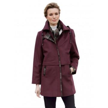 Пальто с капюшоном и шарфом